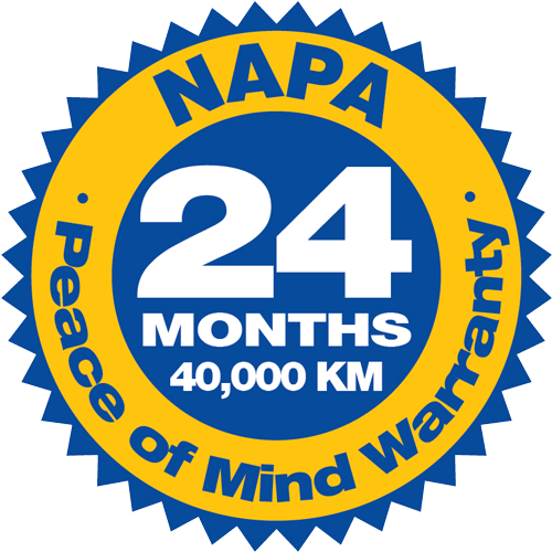 badge of NAPA Peace of Mind Warranty